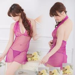 Đầm ngủ sexy xuyên thấu-Ms 9441