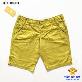Quần short kaki màu vàng cho bé trai 30-42kg - QT1110B074