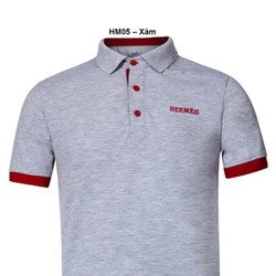 Áo thun Nam thương hiệu Hermes  thời trang cao cấp – Xám