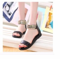 Giày sandal quai ngang 3 dây ánh kim
