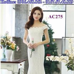 Áo cưới dạ hôi trắng AC275