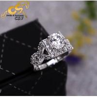 Nhẫn inox xoàn nữ đẹp giá rẻ - N057
