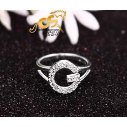 Nhẫn inox nữ cao cấp hiệu Gucci - Trang sức inox