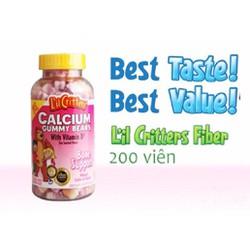 Kẹo dẻo Gummy Bear bổ sung canxi và vitamin D cho trẻ