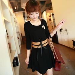 Đầm suông kèm nịt dài tay duyên dáng-D2381