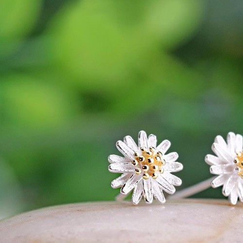 Bông tai bạc hoa cúc nhiều cánh Hàn Quốc - 3929310 , 3148566 , 15_3148566 , 70000 , Bong-tai-bac-hoa-cuc-nhieu-canh-Han-Quoc-15_3148566 , sendo.vn , Bông tai bạc hoa cúc nhiều cánh Hàn Quốc