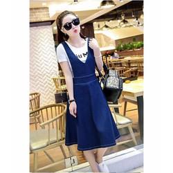 Đầm Jean Yếm Thời Trang size M, L, XL LL00739