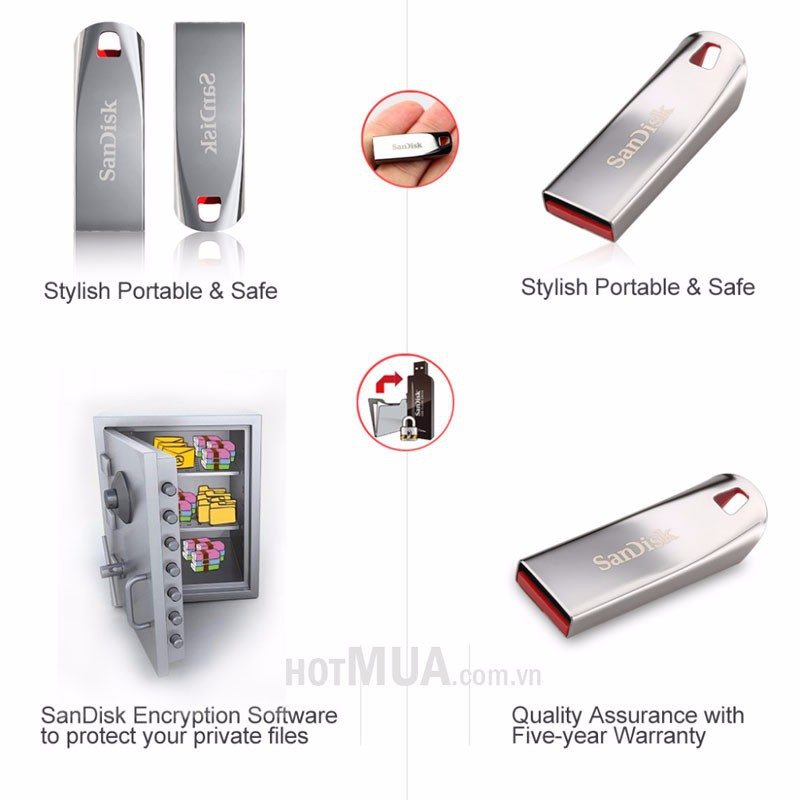 USB Sandisk CZ71 8GB - Thương Hiệu Mỹ - BH 2 Năm 4