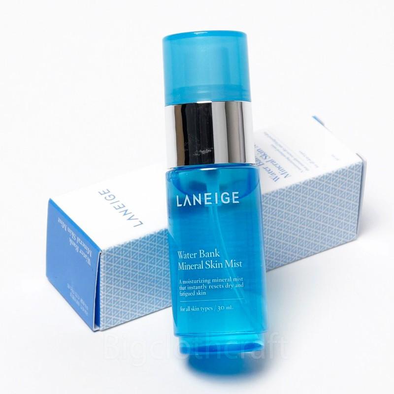 Xịt khoáng Laneige Water Bank Mineral Skin Mist 5