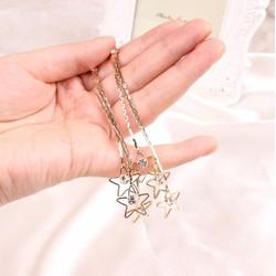 Khuyên tai nữ dáng dài, thiết kế sao năm cánh xinh xắn, mẫu Hàn Quốc
