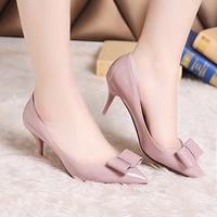 Giày cao gót nơ xinh mũi nhọn Korea - LN264