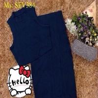 Sét áo croptop sát nách và chân váy bút chì xẻ đùi sành điệu SEV384