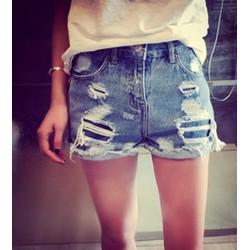 quần short jeans tua rách Mã: QN568