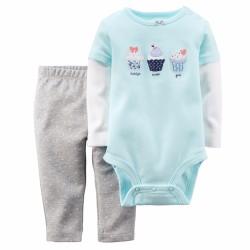 Set bộ bodysuit và quần legging cho bé gái