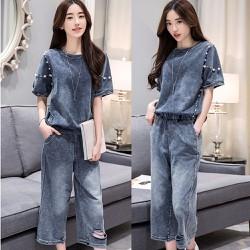 Hàng nhập cao cấp - Set áo giả jeans quần lửng