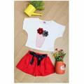 Bộ áo thun Croptop bông hoa NX411