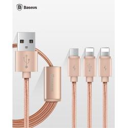 Cáp sạc 3 đầu BASEUS chính hãng cho iphone 5, 5s , 6 , 6s  và ipad