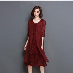 Đầm lụa xẻ tà cực nhẹ mát mùa hè