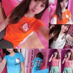 PS 250 - Áo thun nữ in hình Hello Kitty