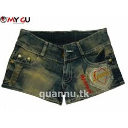 Quần short jean wax rách MY GU Q11