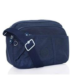Túi xách Kipling đeo chéo nhiều ngăn - màu xanh đen