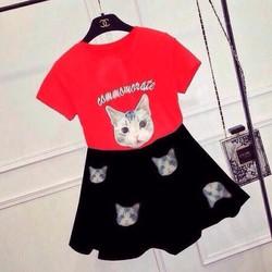 10 - 22kg BỘ váy mèo cho bé xinh mát mùa hè ko kèm túi hàng vnxk