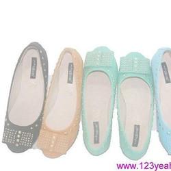 giày búp bê Hacene nạm đinh sang trọng GBB82