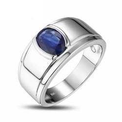 Nhẫn nam bạc cao cấp gắn đá Sapphire