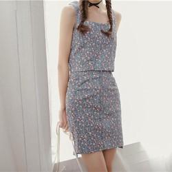 [HẾT HÀNG]  Đầm Rời Form Ôm Họa Tiết Korea