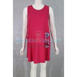 Đầm bầu mặc nhà Suông A - Thun Cotton dày dặn
