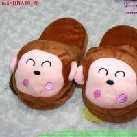 Dép thú bông mang trong nhà cho bé hình chú khỉ dễ thương DBA10