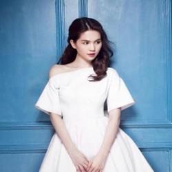 Đầm xòe trắng xinh đẹp lệch vai sexy giành cho bạn gái DXV112