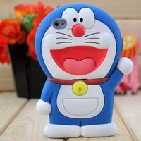 Ốp lưng Iphone 5 Silicon Doraemon 3D