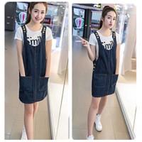 Váy jean sọc liền 2 túi nạm nút sáng nổi bật,trẻ trung,năng động-V019