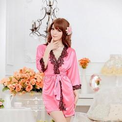 Áo Ngủ Phi Lụa Nhiều Màu dễ Thương Ms5501