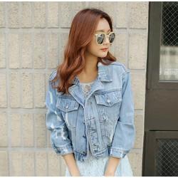 Áo khoác jeans form rộng