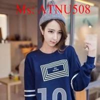 Áo thun nữ dài tay hình số 10 dễ thương ATNU508