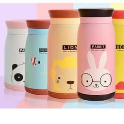 Bình giữ nhiệt Animal phong cách Hàn Quốc 350ml