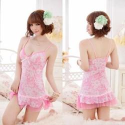 Đầm ngủ hồng ngọt ngào M603