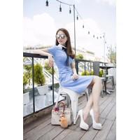 Đầm xanh Ngọc Trinh