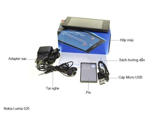 ĐIỆN THOẠI LUMIA 520 ZIN BOX+PIN+SẠC 8