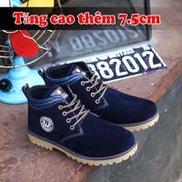 Giày Bốt Nam Da Lộn 7.5cm TINTO 1801XH