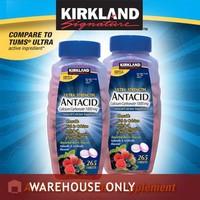 Viên Nhai Trị Đau Dạ Dày Kirkland Ultra Strength Antacid - 265 viên