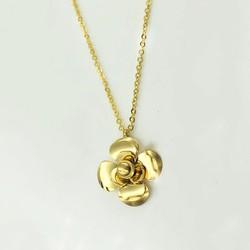 Dây chuyền bông hồng vàng Titan không đen