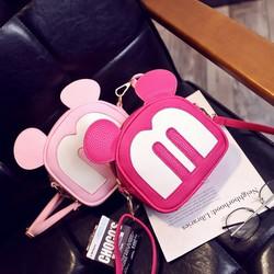 Túi đeo chéo nữ thời trang, kiểu dáng chuột mickey, mẫu đáng yêu