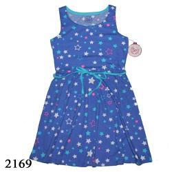 2169 - Đầm thun bé gái SO size đại - Stars B