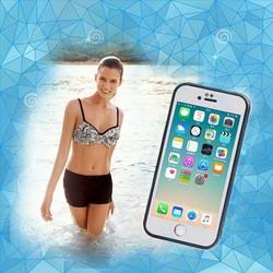 Ốp lưng chống nước cho Iphone 5-5S - Màu Trắng Viển Đen