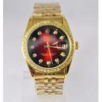 Đồng hồ nam Rolex cơ Mặt đỏ chạy tự động không dùng pin  RL868