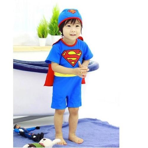 Bộ bơi liền thân  siêu nhân  mũ 1- 5 tuổi