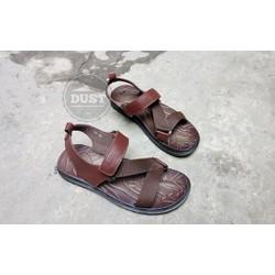 Sandal nam da bò đế cao su